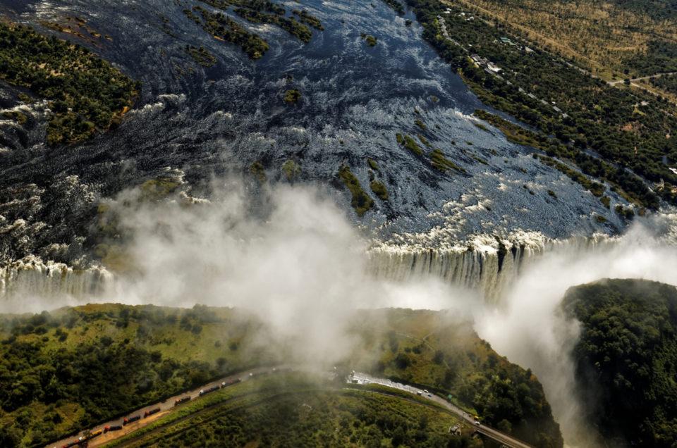 Vues aériennes des chutes Victoria
